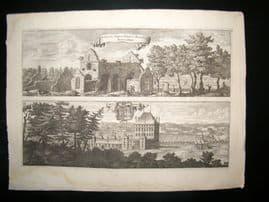 Dahlberg Sweden C1700 Folio Architectural Print. Alvastra Abbey & Braaborg