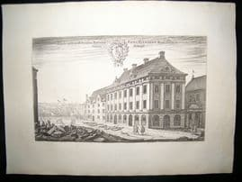 Dahlberg Sweden C1700 Folio Architectural Print. Baron Eric Flemmings House