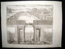 Dahlberg Sweden C1700 Folio Architectural Print. Rosersberg Palace, Stockholm