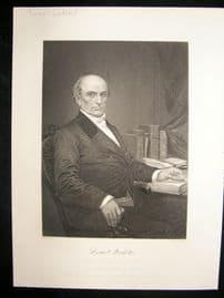 Daniel Webster 1873 Antique Portrait Print