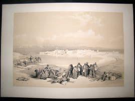 David Roberts Egypt 1842 LG Folio. Suez. 1st Edition Antique Print