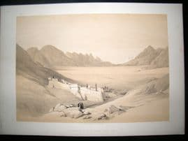 David Roberts Egypt 1844 LG Folio. Convent of St. Catherine Mount Sinai