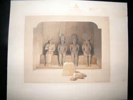 David Roberts Egypt 1846 Half Folio. Temple of Aboo-Simbel, Nubia. Print
