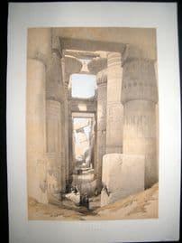 David Roberts Egypt 1847 LG Folio. Karnac Columns. 1st Edition Lithograph
