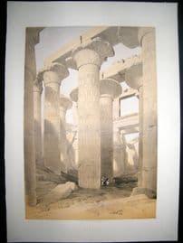 David Roberts Egypt 1847 LG Folio. Karnac. Antique Print