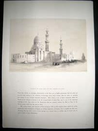 David Roberts Egypt 1849 Half Folio. Mosque of Ayed Bey, Suez. Lithograph