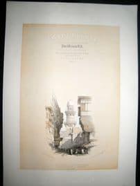 David Roberts Egypt 1849 LG Folio. Illus Title Page. Street Scene in Cairo