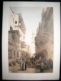 David Roberts Egypt 1849 LG Folio. Mosque of El Mooristan, Cairo. Lithograph