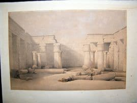 David Roberts Egypt DELUXE Ed 1842 Folio Hand Col. Medinet Abou, Thebes