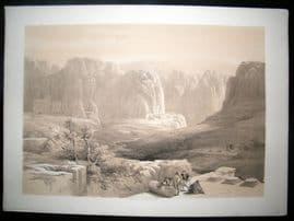 David Roberts Holy Land 1842 LG Folio. Site of Petra, Jordan. 1st Edition