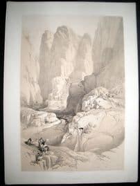 David Roberts Holy Land 1842 LG Folio. The Theatre. Entrance to Petra, Jordan