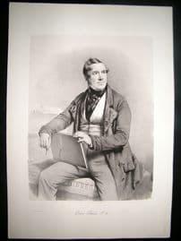 David Roberts Holy Land 1st Ed 1844 LG Folio. Portrait of Roberts