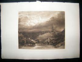 Dawson after J. Linnell 1885 Photogravure. The Windmill