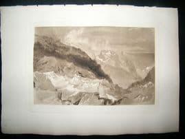 Dawson after J. M. W. Turner 1885 Photogravure. The Mer de Glace