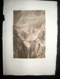 Dawson after Turner 1885 Photogravure. Old Devil's Bridge