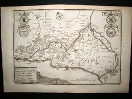 De Fer 1724 Folio Map Plan. Nouveau Canal D'Orleans, France