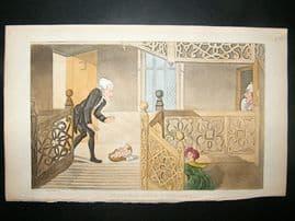 Dr Syntax by Rowlandson 1855 Found Baby, Foundling