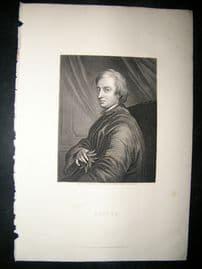 Dryden C1860 Steel Engraved Portrait Print