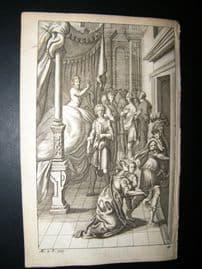 Dryden Works of Virgil 1709 Classical Engraving. Creusa. Greek Mythology