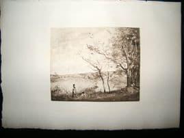 Dujardin after Corot 1885 Photogravure. Mantes la Jolie