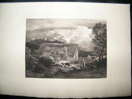 Dujardin after Samuel Palmer 1885 Photogravure. The Farmyard