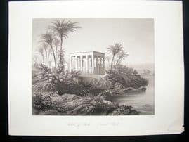 Egypt C1850 Antique Print. Island of Philae