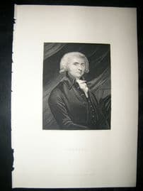 Erskine C1860 Steel Engraved Portrait Print