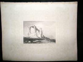 Ethiopia C1860 Antique Print. Ruined Temple of Isis, Ghertashier