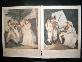 F. Bonnefoy aft Francis Wheatley C1790 Folio Col. Stipples (2) Theatrical Scenes