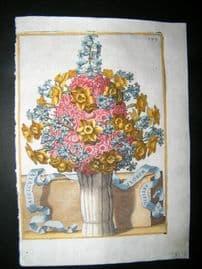 Ferrari 1633 Hand Col Botanical Print. Fasciculus Florum Artificiosus 399