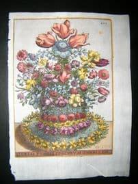 Ferrari 1633 Hand Col Botanical Print. Floreae Pompae Ferculum Turritum 405