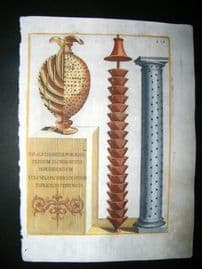 Ferrari 1633 Hand Col Garden Tool Print. Vase etc 415