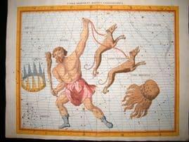 Flamsteed 1781 LG Folio Celestial Map. Comae Berenices Bootes Canes Venatici 20