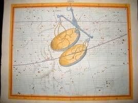 Flamsteed Atlas Coelestis 1781 LG Folio Hand Col Celestial Map. Libra 7