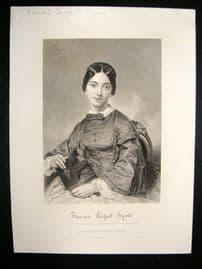 Francces Sargent Osgood 1873 Antique Portrait Print