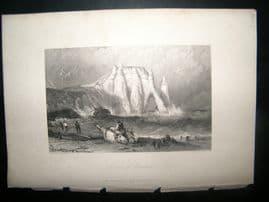 France 1838 Antique Print. Rocks of Etretat