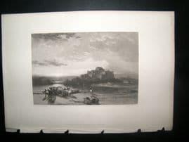 France 1838 Antique Print. St Malo