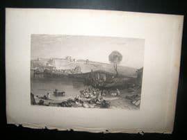 France 1838 Antique Print. St. Germain-en-laye, Turner