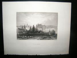 France 1847 Antique Print. Aix-la-Chapelle