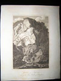 France C1810 Antique Print. Grottoes of Salsenage, Dauphine