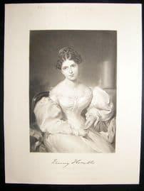 Frances Anne Kemble 1873 Antique Portrait Print