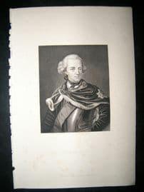 Frederick II C1860 Steel Engraved Portrait Print