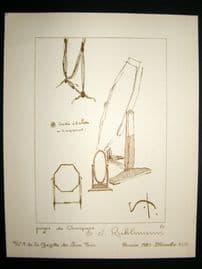 Gazette du Bon Ton 1920 Art Deco Interior Design Litho. Mirrors
