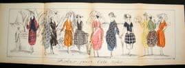 Gazette du Bon Ton 1920 Large Folio Art Deco Pochoir. Robes Pour L'Ete