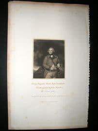 George Augustus, Eliott Lord Heathfield C1820's Folio Portrait Print