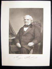 George Peabody 1873 Antique Portrait Print