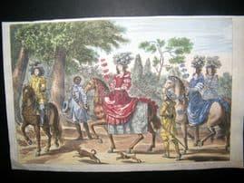 George Simon Winter 1672 Antique Print. Equestrian Horse Dressage