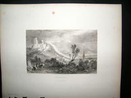 Germany 1836 Antique Print. Brandis