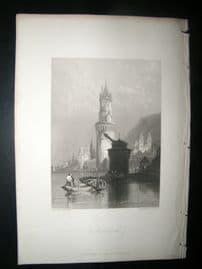Germany 1838 Antique Print. Andernach