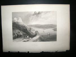 Germany 1838 Antique Print. Coblentz, Prussia